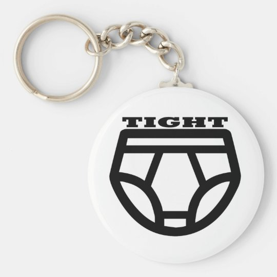 TIGHT - Tighty Whities Basic Round Button Key Ring