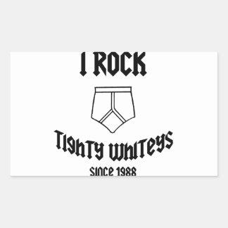 tight whites rectangular sticker