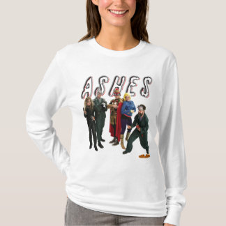 Tights and Fights: Ashes Cast and Logo T-Shirt