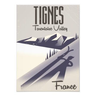 Tignes, France ski travel poster