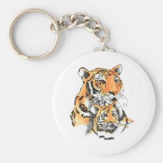 Tigress and cub key chain