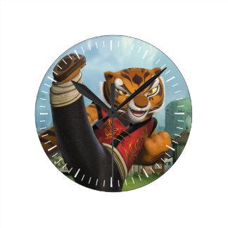 Tigress Kick Round Clock