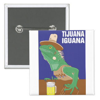 Tijuana Iguana Design 15 Cm Square Badge