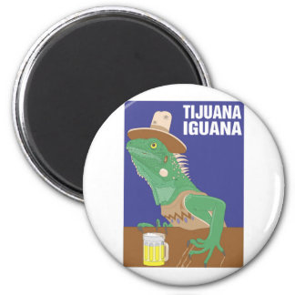 Tijuana Iguana Design 6 Cm Round Magnet