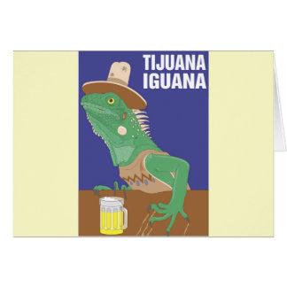 Tijuana Iguana Design Greeting Card