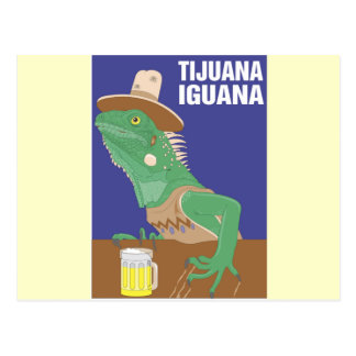Tijuana Iguana Design Post Card