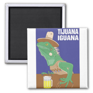 Tijuana Iguana Design Square Magnet