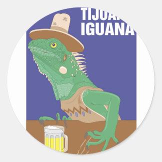 Tijuana Iguana Design Round Sticker