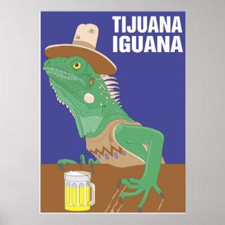Tijuana Iguana Poster Print