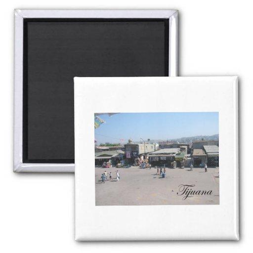 Tijuana Mexico 2 Square Magnet