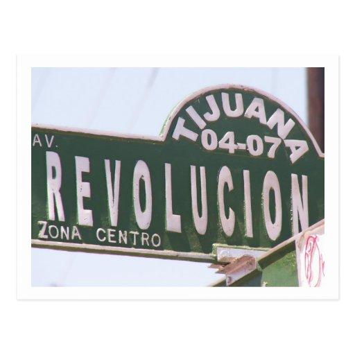 Tijuana Street Sign Post Cards