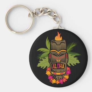 Tiki Aloha Key Ring