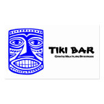 Tiki Bar - Blue, Black & White