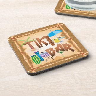 Tiki Bar Design Drink Coasters
