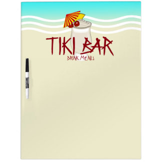 Tiki Bar Drink Menu Dry Erase Board