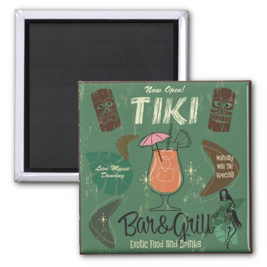Tiki Bar&Grill Cocktail Magnet