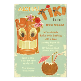 Tiki Bar Invitation