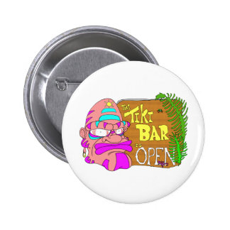 Tiki Bar is OPEN 6 Cm Round Badge