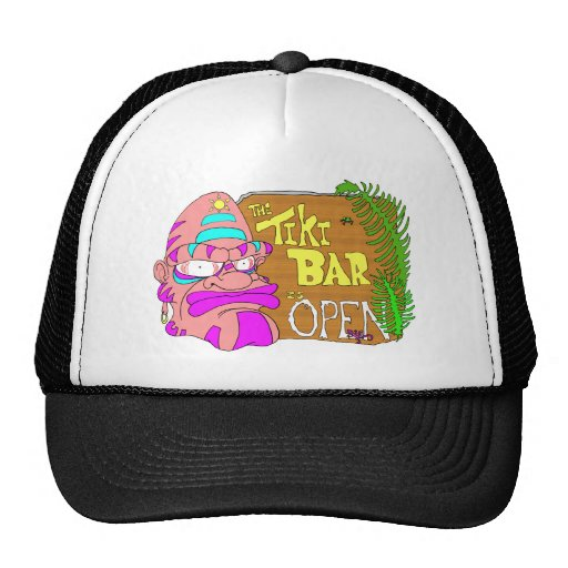 Tiki Bar is OPEN Mesh Hat