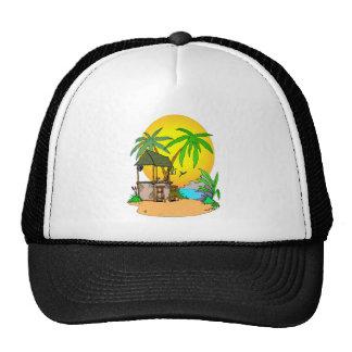 Tiki Bar Island Trucker Hat