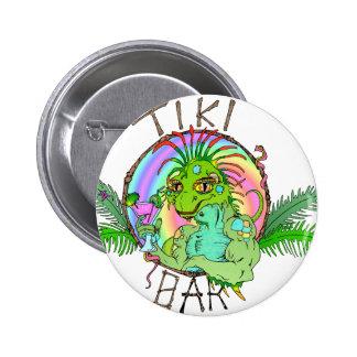 Tiki Bar Lizard Pinback Button