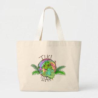 Tiki Bar Lizard Canvas Bag