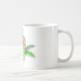 Tiki Bar Lizard Basic White Mug