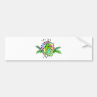 Tiki Bar Lizard Bumper Sticker