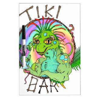 Tiki Bar Lizard Dry Erase Whiteboards