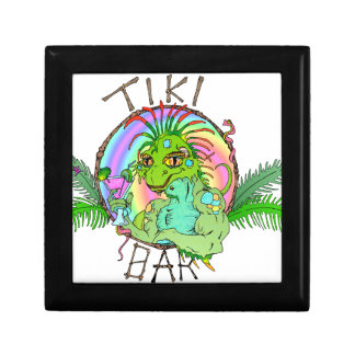 Tiki Bar Lizard Jewelry Box
