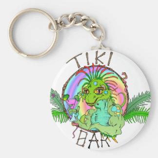 Tiki Bar Lizard Key Chain