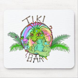 Tiki Bar Lizard Mouse Pad