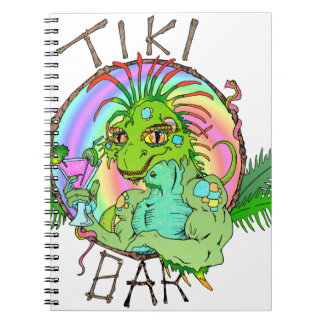 Tiki Bar Lizard Notebooks