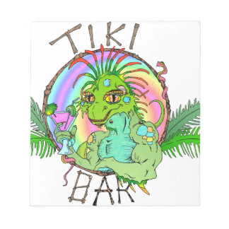 Tiki Bar Lizard Notepad