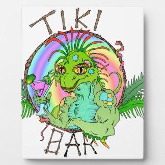 Tiki Bar Lizard Display Plaque