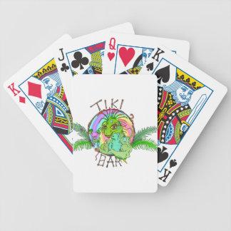 Tiki Bar Lizard Playing Cards