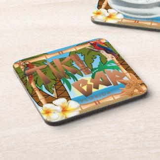Tiki Bar Party Design Beverage Coasters