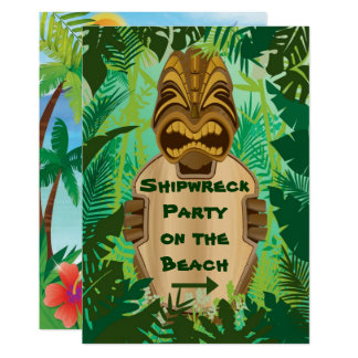 Tiki Beach Card