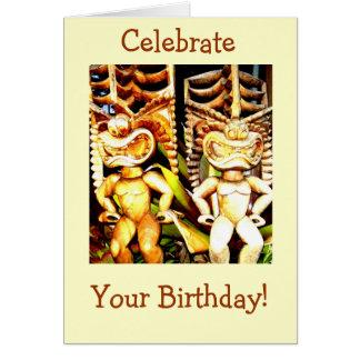 Tiki Birthday Card