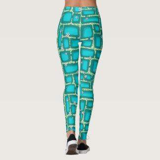Tiki Bricks 001 Leggings