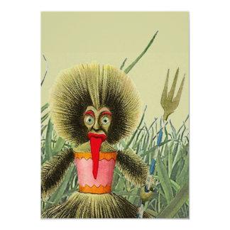 Tiki Doll Grass Lawn Backyard Fun Party Invitation
