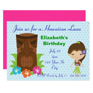 Tiki God Luau Party 13 Cm X 18 Cm Invitation Card