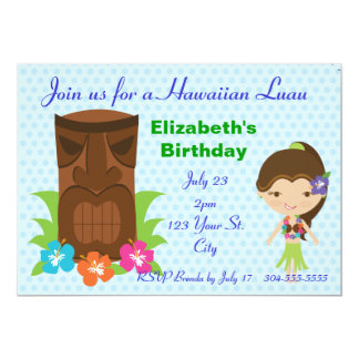 "Tiki God Luau Party 5"" X 7"" Invitation Card"