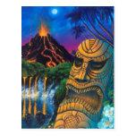 Tiki God Postcard