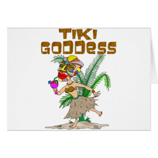 TIKI GODDESS CARD