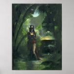 Tiki Goddess Print