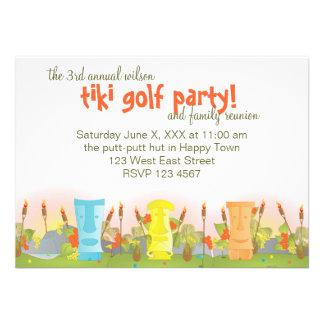 Tiki Golf Custom Invitations