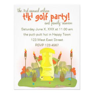 Tiki Golf Personalized Invite