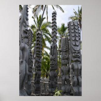Tiki Guardians at Place of Refuge - Print