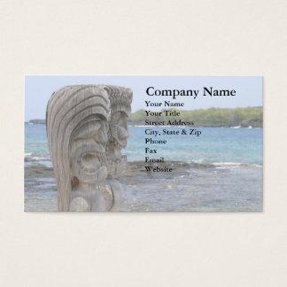 Tiki Guardians in Kona, Hawaii - Business Card